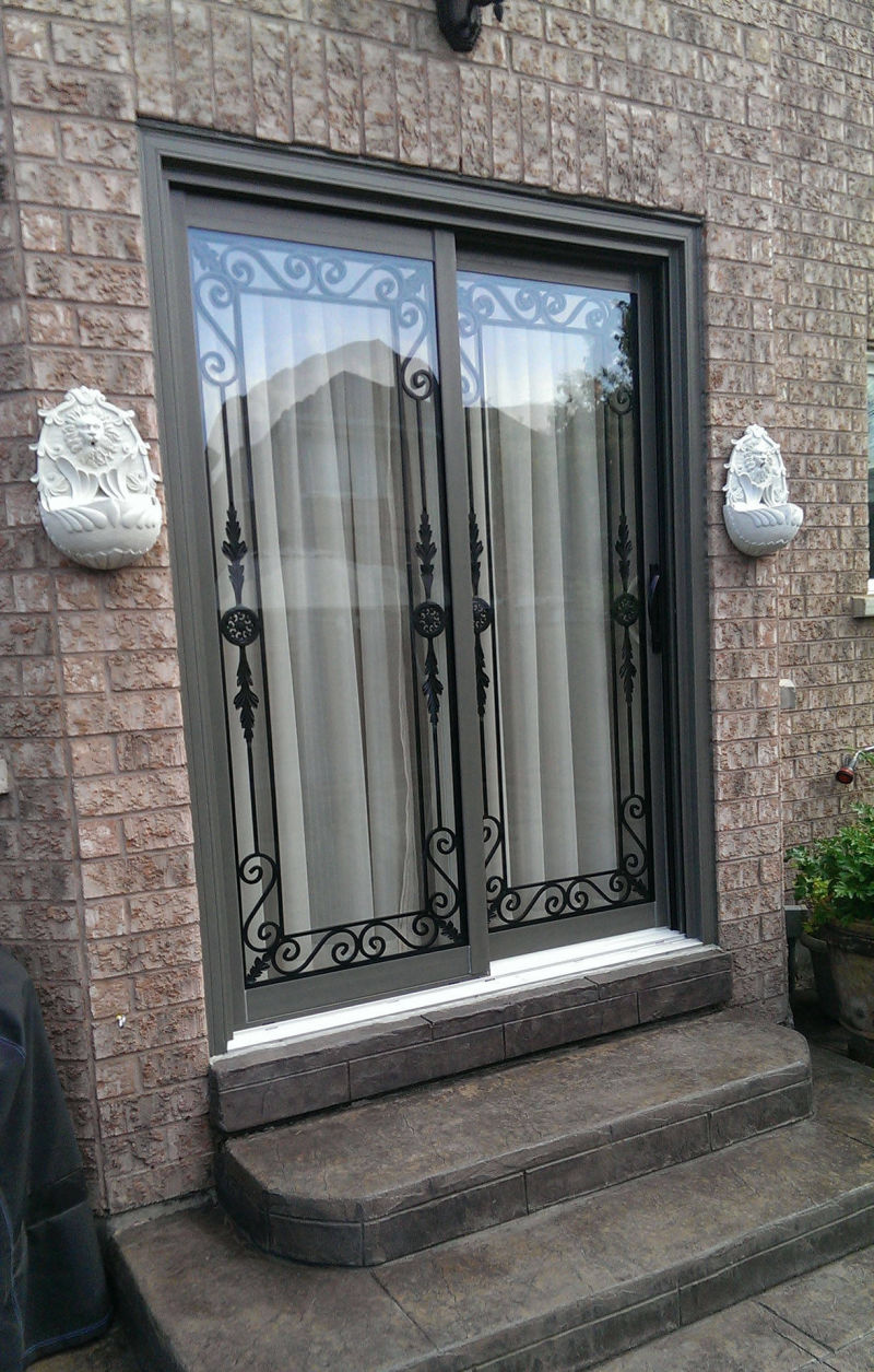 Wrought Iron with Transom (Outside)
