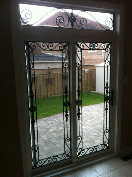 Wrought Iron with Transom (Inside)